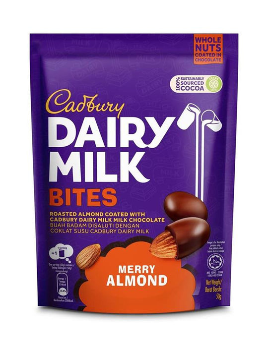 Cadbury Dairy Milk Bites Merry Almond 50g