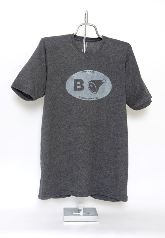 B+Ham Short Sleeve T-Shirt Adult Charcoal