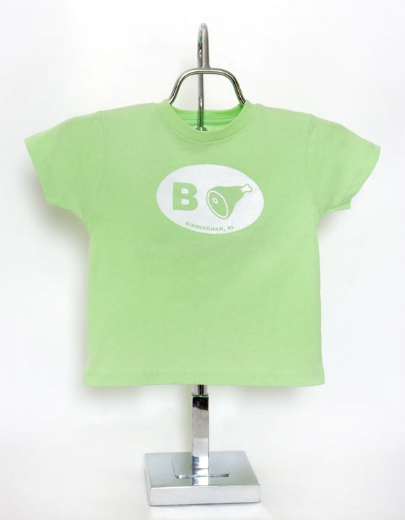 B+Ham Short Sleeve T-Shirt Toddler and Youth Mint