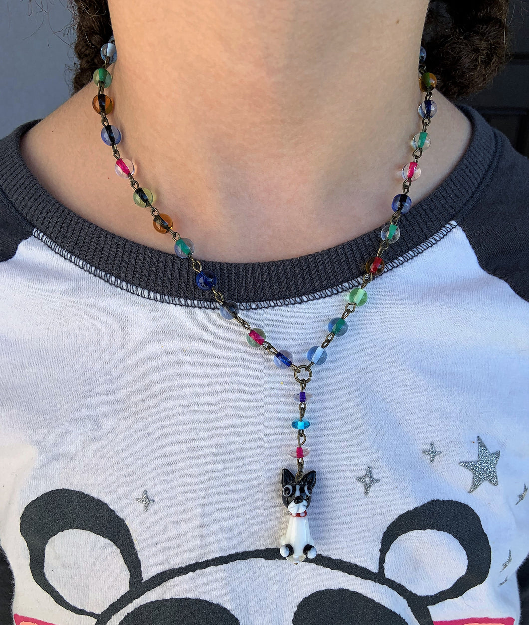 Kid's Necklace (Dog with multicolor beads) by Hamilton Design House