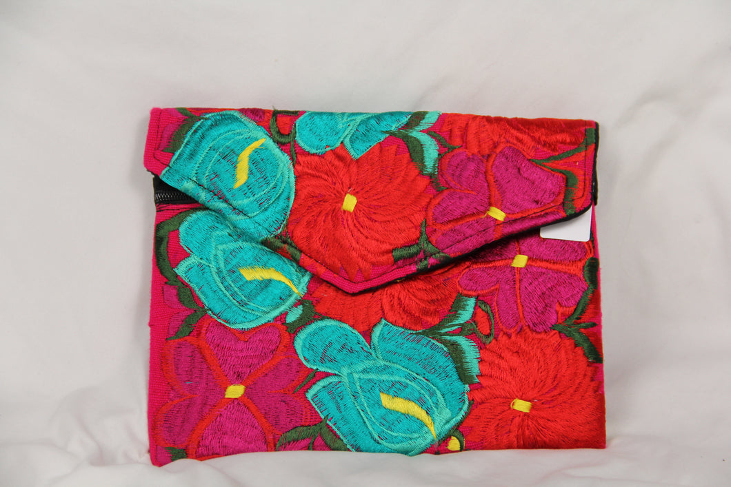 Kulture Multicolor Embroidered Purse