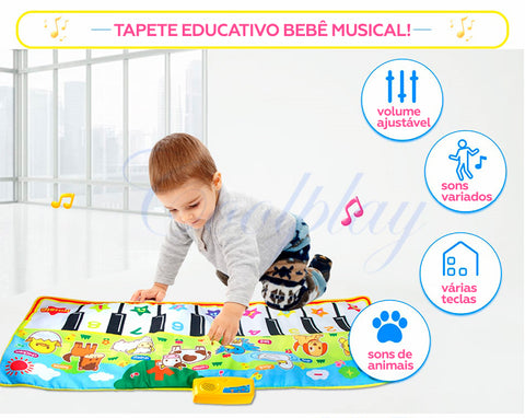 TAPETE EDUCATIVO BEBÊ MUSICAL!