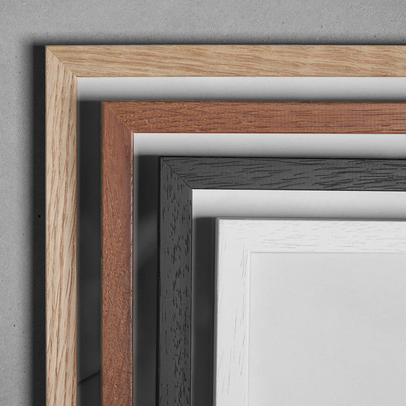 Wooden Frame - 40x50cm - White - Glass
