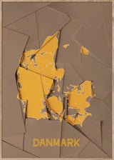Maps Danmark - A5 - Brown / Yellow