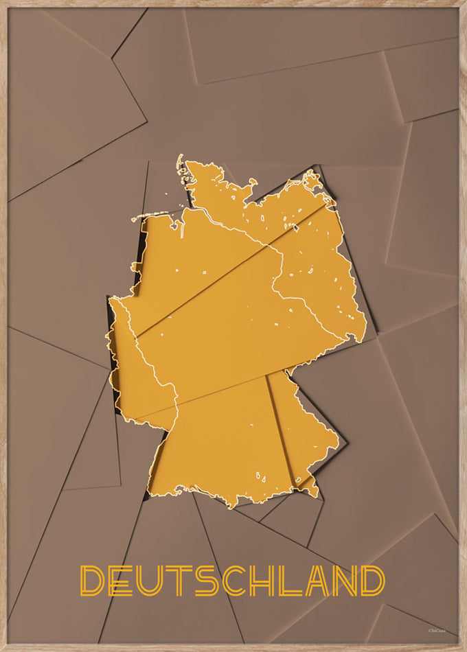 Maps Deutschland - A3 - Brown / Yellow