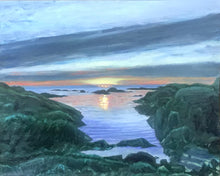 "Load image into Gallery viewer, Sunrise - Biddeford Pool .....oil on linen - 16"" x 20"" - 2020"