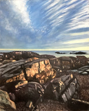 "Load image into Gallery viewer, First Light - Biddeford Pool Maine.....oil on linen - 16"" x 20"" - 2020"