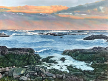 "Load image into Gallery viewer, Sunset at Biddeford Pool Maine..........oil on linen - 30"" x 40"" - 2020"