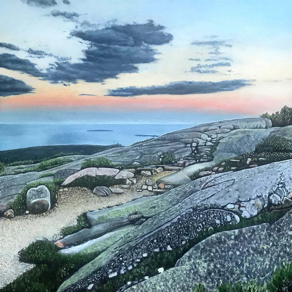 Cadillac Mountain Sunset.....oil on linen - 48