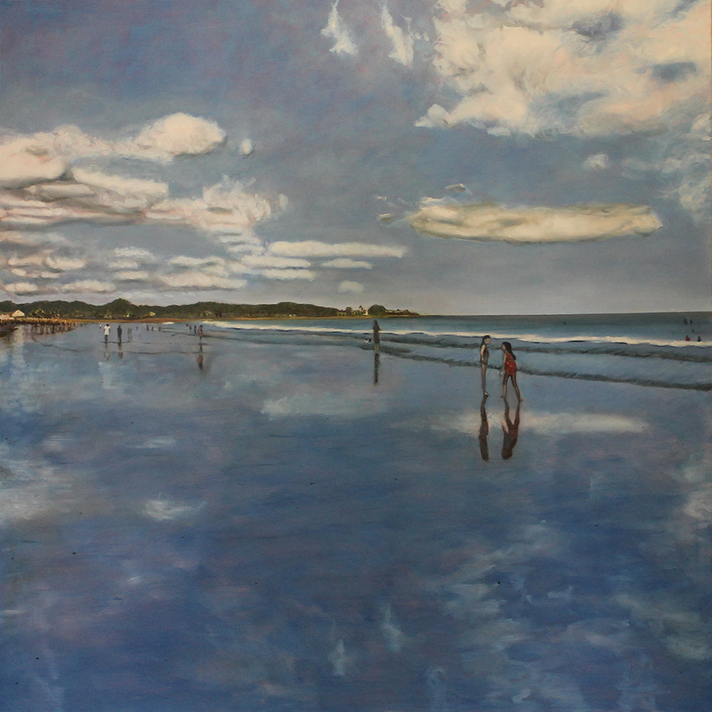 Beach Reflections.....oil on canvas - 54