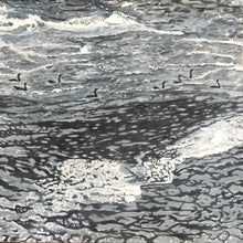 "Load image into Gallery viewer, Cormorants - Biddeford Falls Maine.....oil on canvas - 24"" x 24"" - 2020"