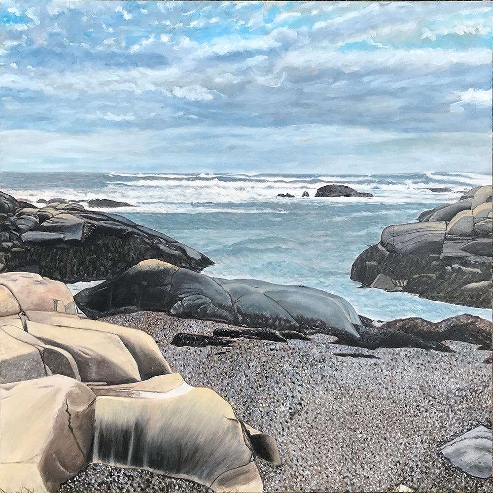 Biddeford Pool Rocks - Maine.....oil on canvas - 48