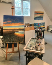 "Load image into Gallery viewer, Last Light - Goose Rocks Beach - Maine...oil on linen - 30"" x 40"" - 2021"