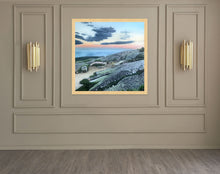 "Load image into Gallery viewer, Cadillac Mountain Sunset.....oil on linen - 48"" x 48"" - 2020"