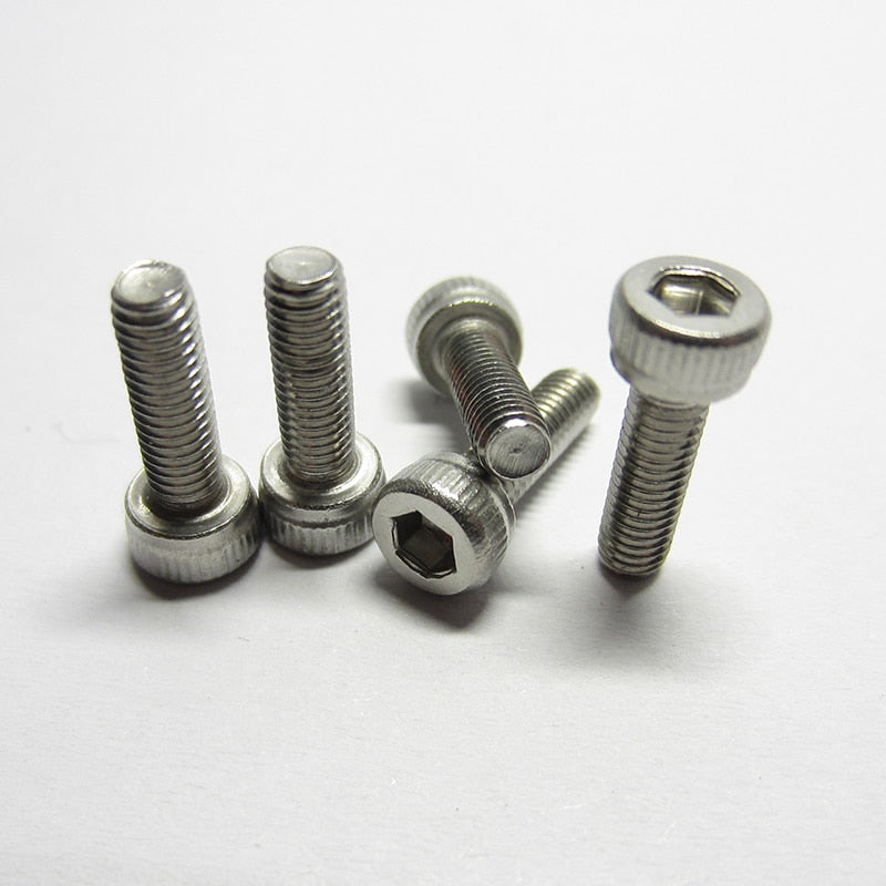 20/10PCS M2.5 M3/M4/M5/M6 DIN912 304 Stainless Steel Hexagon Socket Head Cap Screws Inner Hex Socket Bicycle Bolt Metric Thread