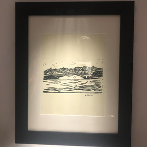 "Pat Tobin Black and White Framed Print - 14"" x 17"""