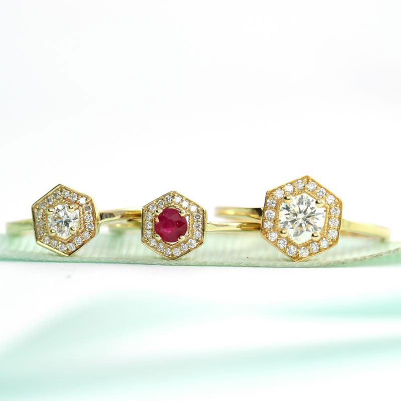 Unique Look - Engagement Rings With Colored Stones