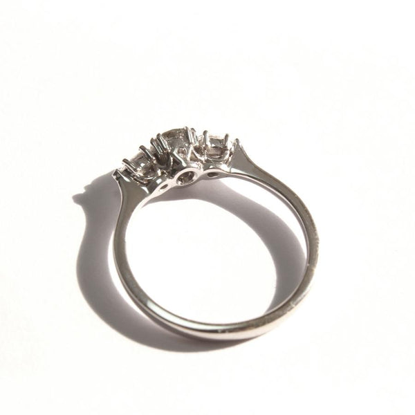 gray diamond engagemnet ring