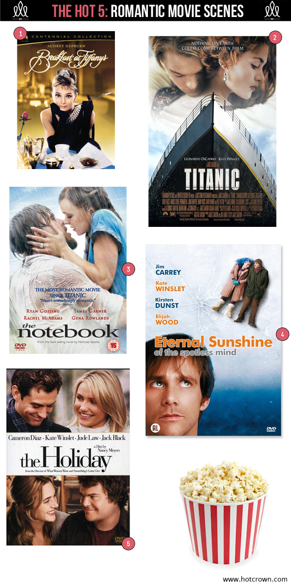 top 5 romantic movie scenes via the hotcrown.com blog