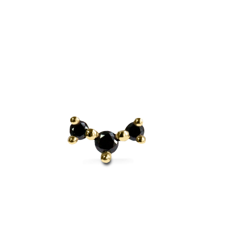 black diamonds gold earring frida