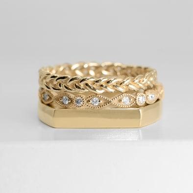 Paris Stacking Ring Set