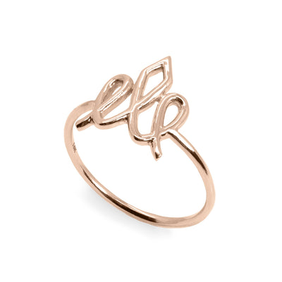 hotcrown logo rose gold ring
