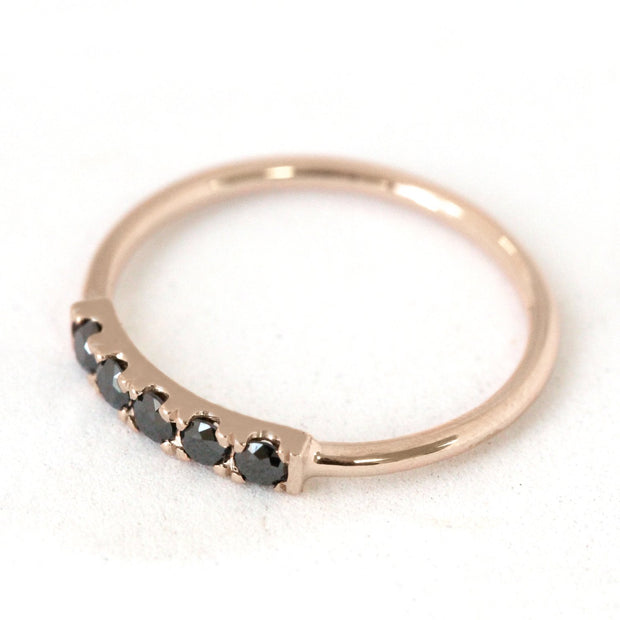 Candy Gold Ring Black Diamonds