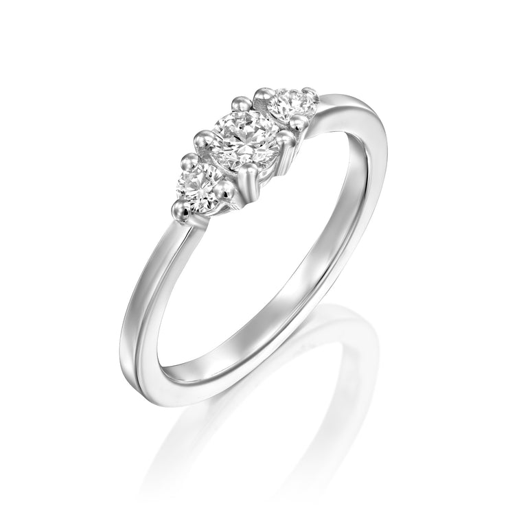 Audrey Gold Ring 4mm Diamond
