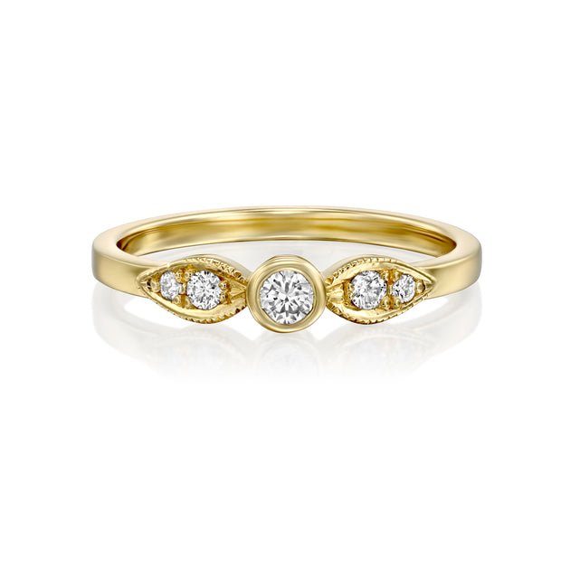 Heleni Gold Ring 4mm White Diamond