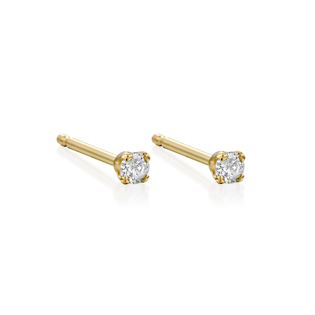 Martina Earring 2 mm White Diamond