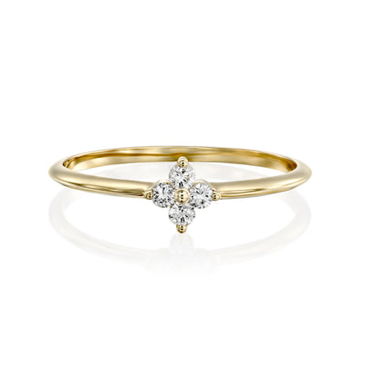 Beth Ring With White Diamonds