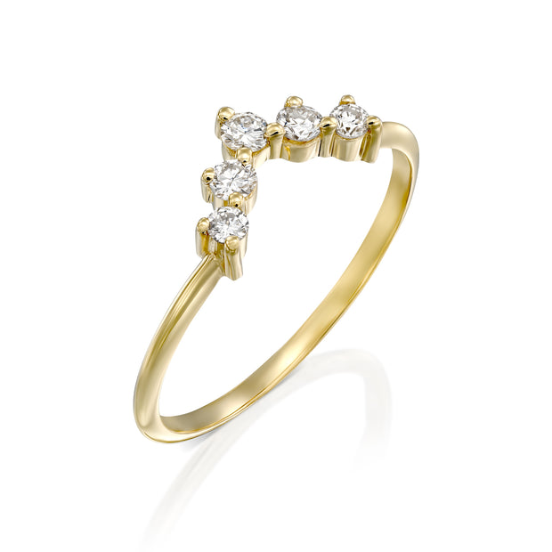 Harmon ring With White Diamonds