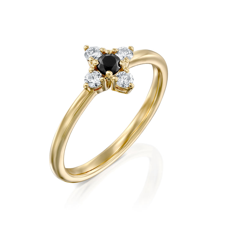 Eliana Ring with Black & White Diamonds