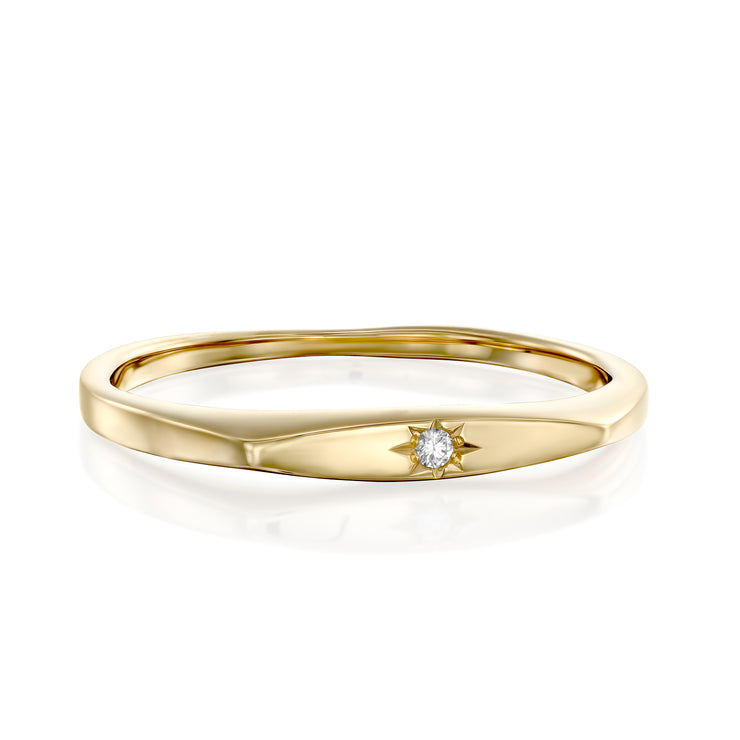 Jackie Gold Ring Star Setting Diamond