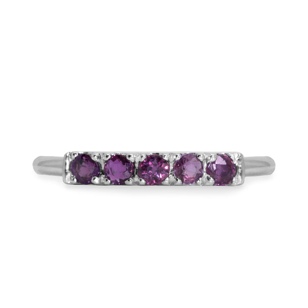 white gold ring amethyst