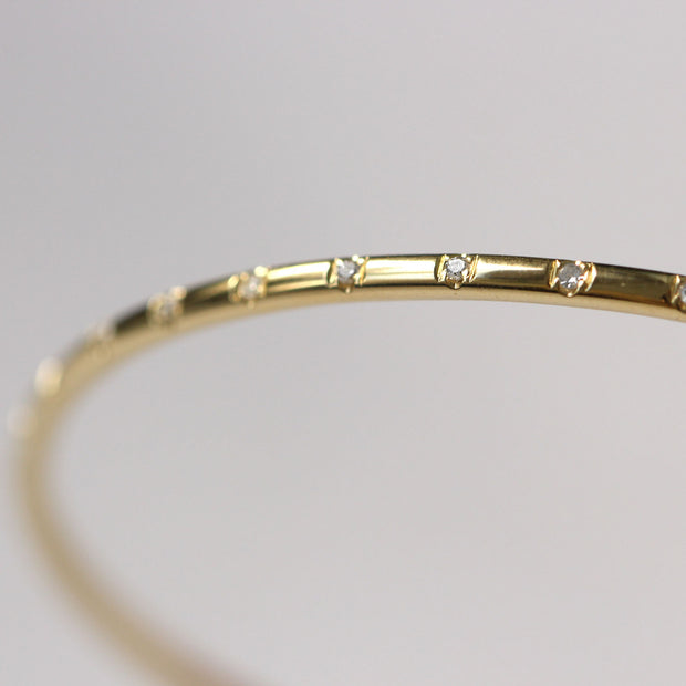 gold bangle with diamonds