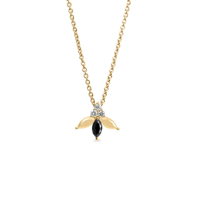 black marquise diamond necklace