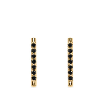 bar earrings with black diamonds