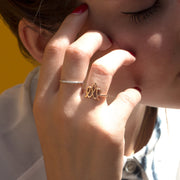 Small Crown Gold Ring