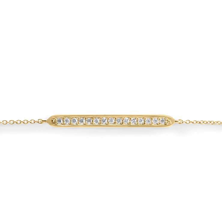 yellow gold elegant bracelet