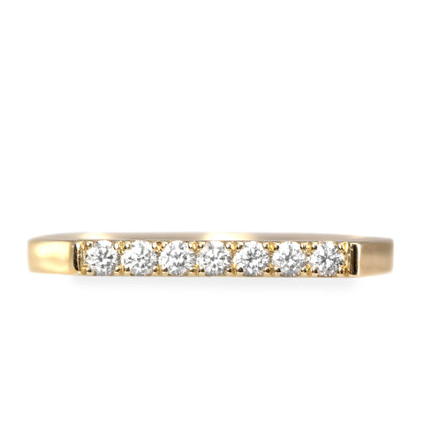 Carrie Gold Ring White Diamonds