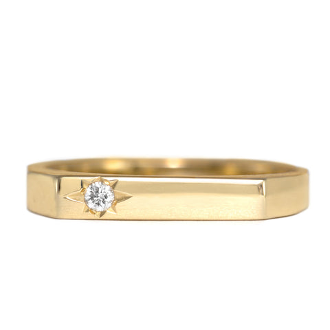 Charlotte Gold Ring White Diamond
