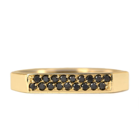 Charlotte Gold Ring Black Diamonds