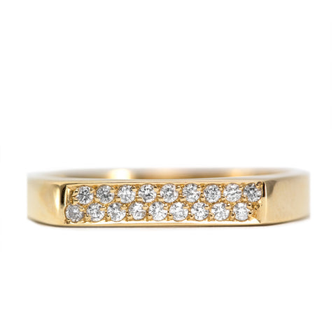Charlotte Gold Ring White Diamonds
