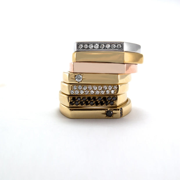 stackable gold ring hotcrown