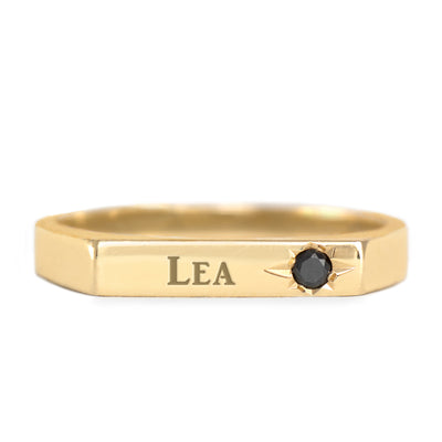 engraved name on a ring