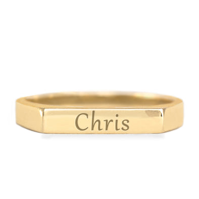 Charlotte Gold Ring + Engraving