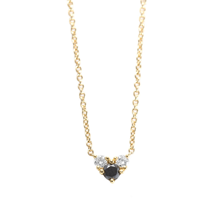 Tatiana Gold Necklace Black & White Diamonds