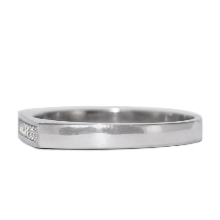 stackable white gold ring