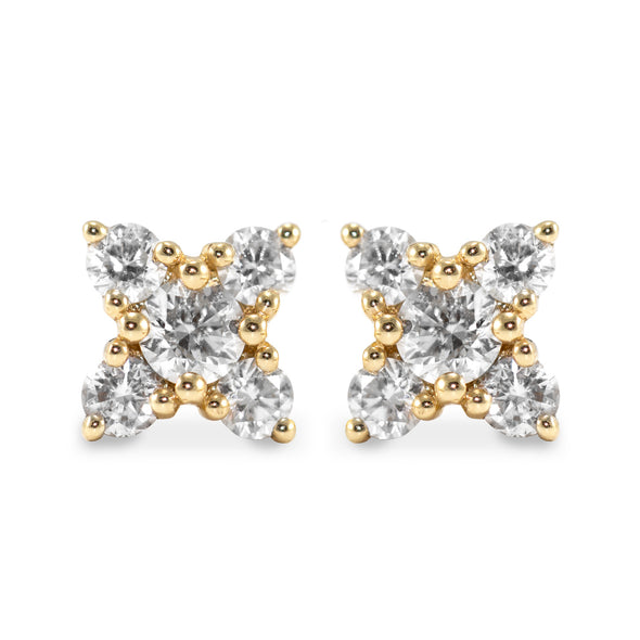 Eliana Gold Earring White Diamonds
